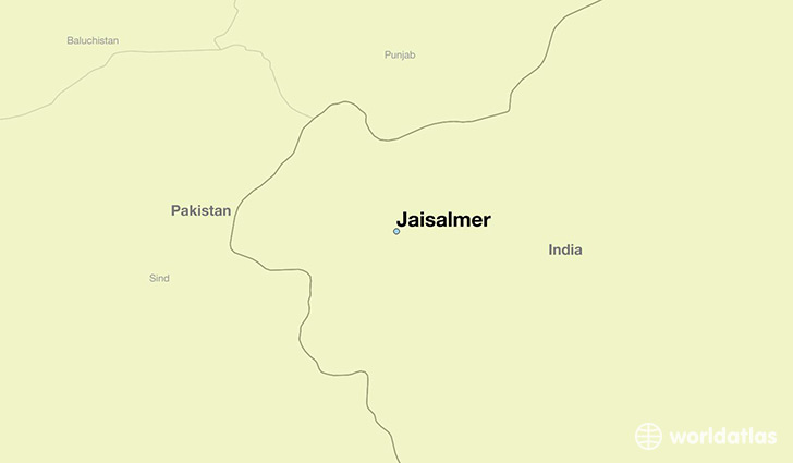 map showing the location of Jaisalmer
