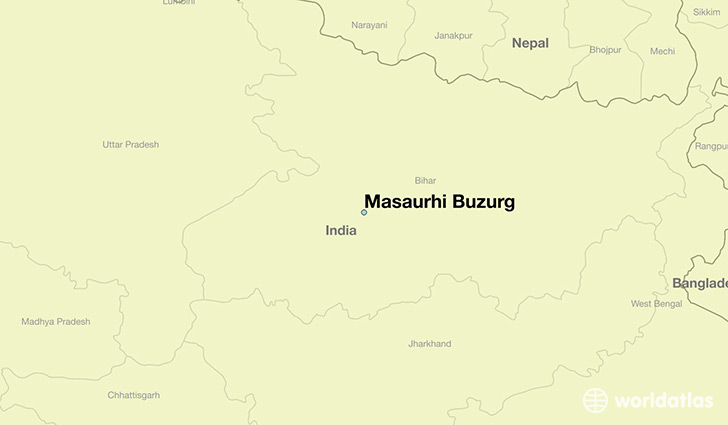 map showing the location of Masaurhi Buzurg