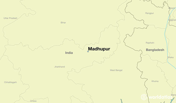 map showing the location of Madhupur