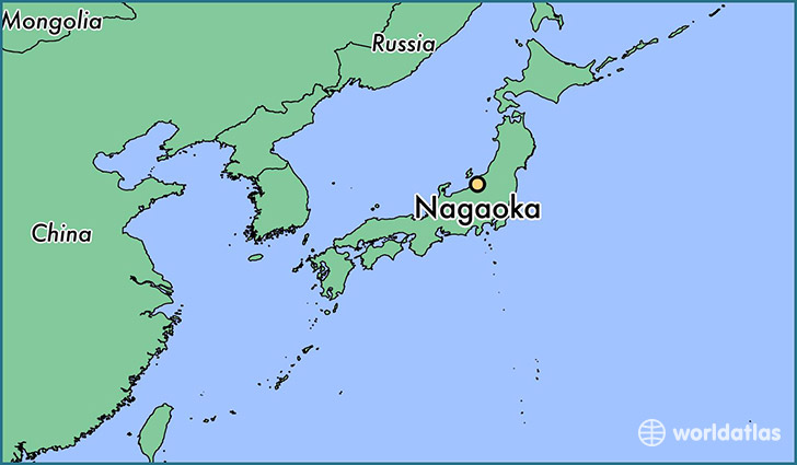 map showing the location of Nagaoka