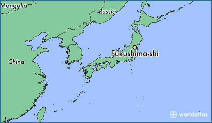 map showing the location of Fukushima-shi