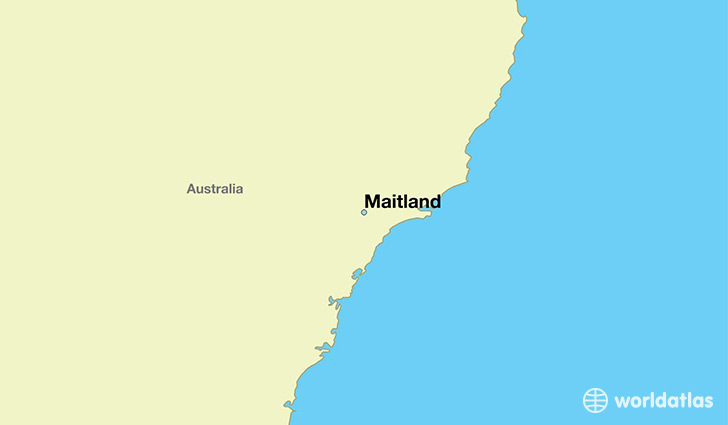 map showing the location of Maitland
