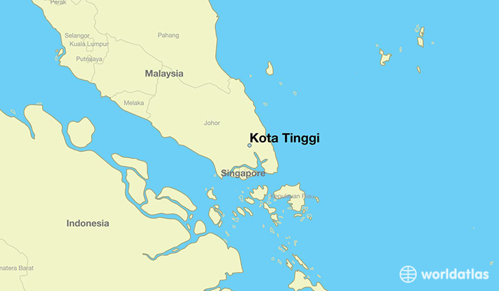 map showing the location of Kota Tinggi