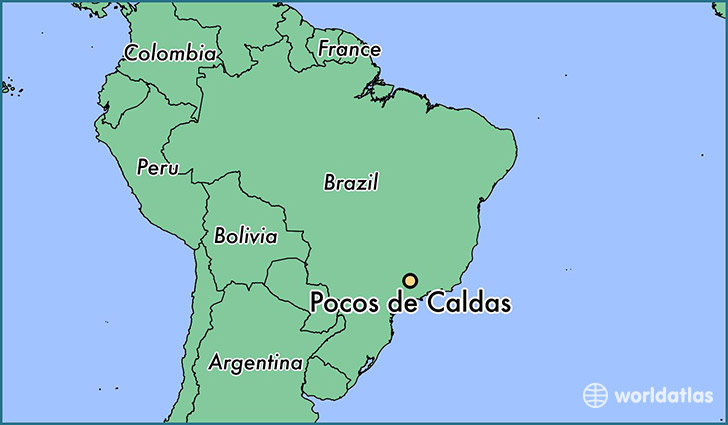 map showing the location of Pocos de Caldas