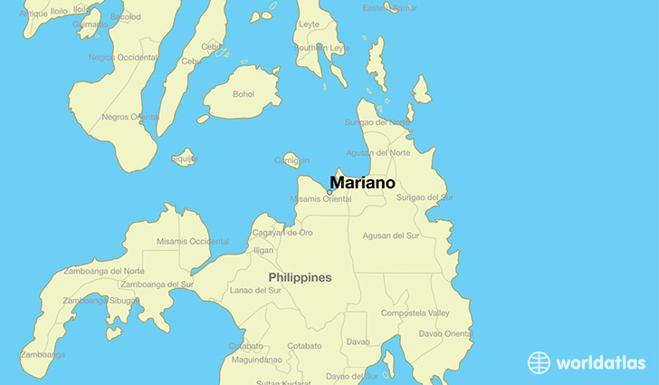 map showing the location of Mariano