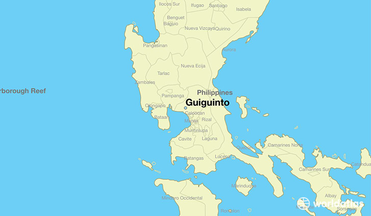 map showing the location of Guiguinto