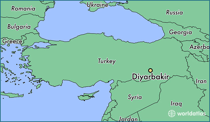 map showing the location of Diyarbakir