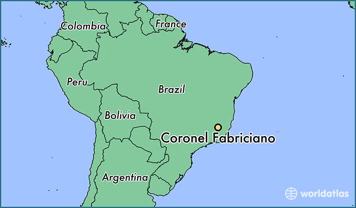 map showing the location of Coronel Fabriciano