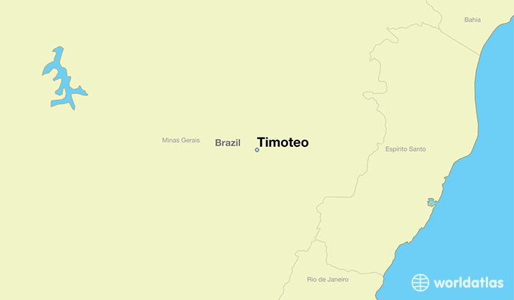 map showing the location of Timoteo