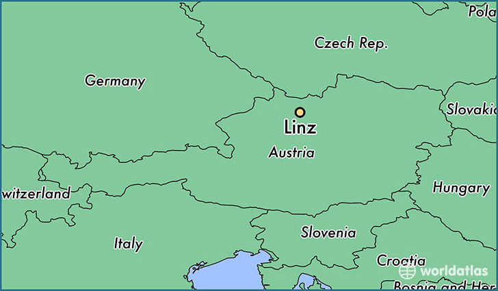 map showing the location of Linz