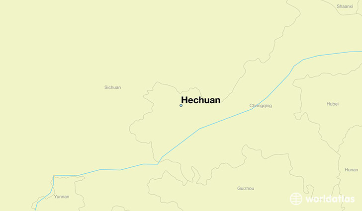 map showing the location of Hechuan