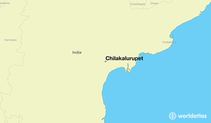 map showing the location of Chilakalurupet