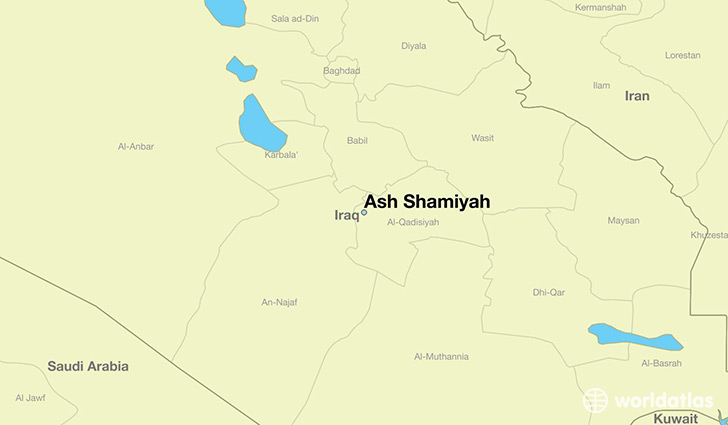 map showing the location of Ash Shamiyah