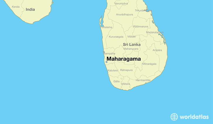 map showing the location of Maharagama