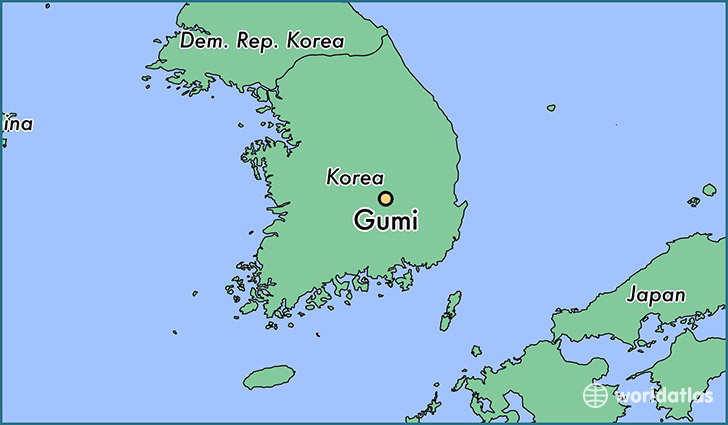 map showing the location of Gumi