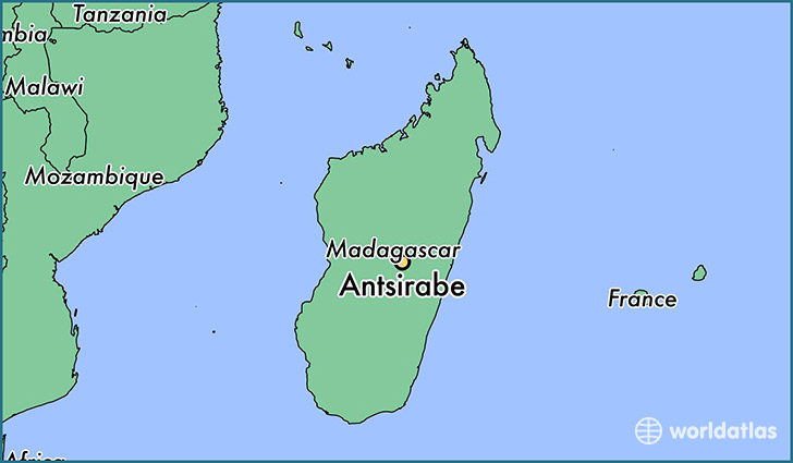 map showing the location of Antsirabe