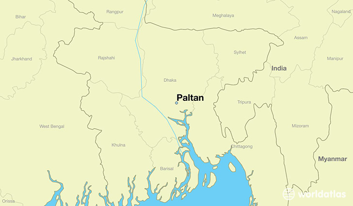Where is Paltan, desh? / Paltan, Dhaka Map - WorldAtlas.com on
