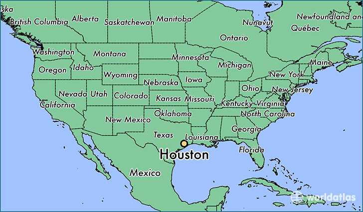 Houston On Map Of Texas