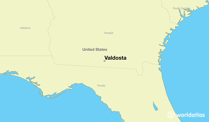 Where is Valdosta GA Valdosta Georgia Map WorldAtlascom