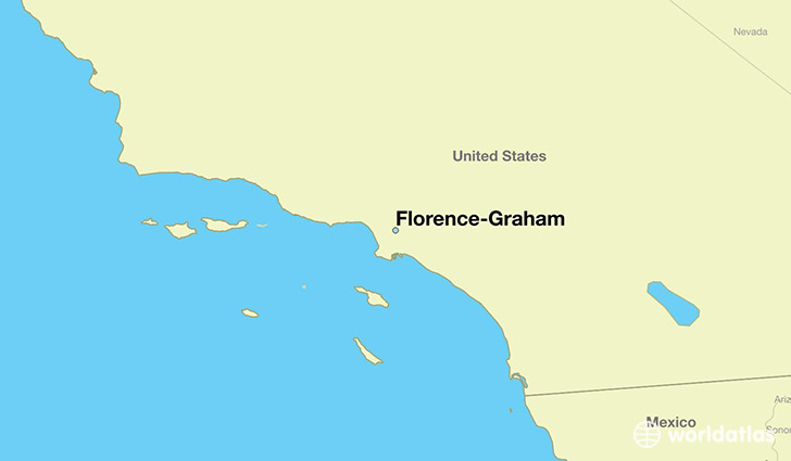 map showing the location of Florence-Graham
