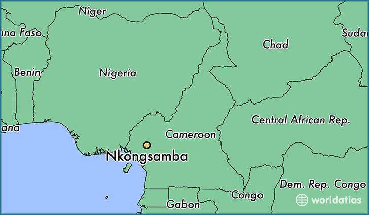 map showing the location of Nkongsamba