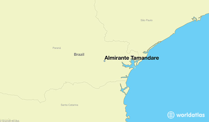 map showing the location of Almirante Tamandare