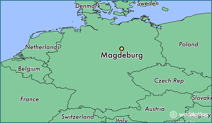 where is magdeburg germany magdeburg saxony anhalt map. Black Bedroom Furniture Sets. Home Design Ideas