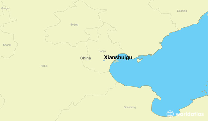 Where is xianshuigu china xianshuigu tianjin map worldatlas map showing the location of xianshuigu gumiabroncs Image collections
