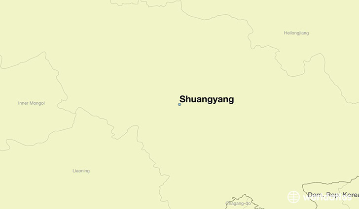 map showing the location of Shuangyang