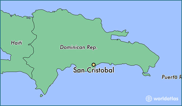 map showing the location of San Cristobal