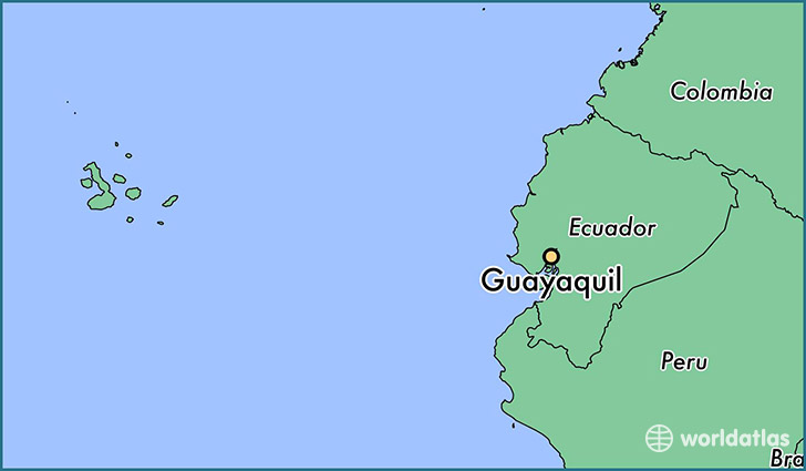 map showing the location of Guayaquil