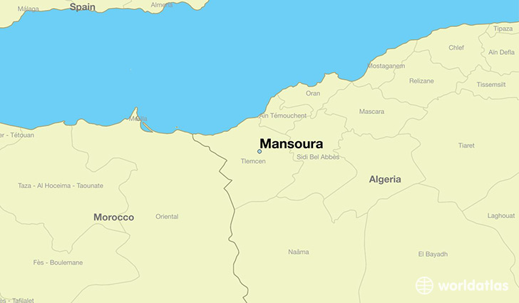 map showing the location of Mansoura