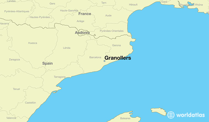 map showing the location of Granollers