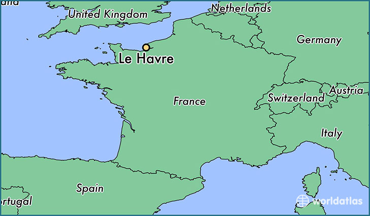 Where is Le Havre France Le Havre Upper Normandy Map