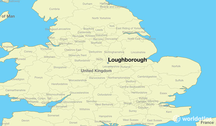 Where is loughborough england loughborough england map map showing the location of loughborough gumiabroncs Image collections