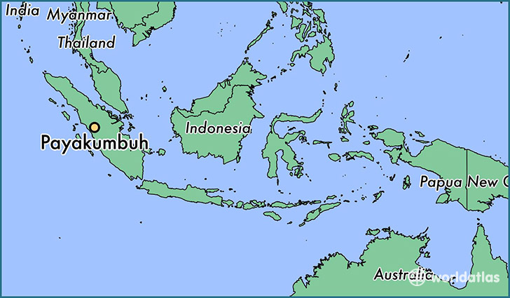 map showing the location of Payakumbuh
