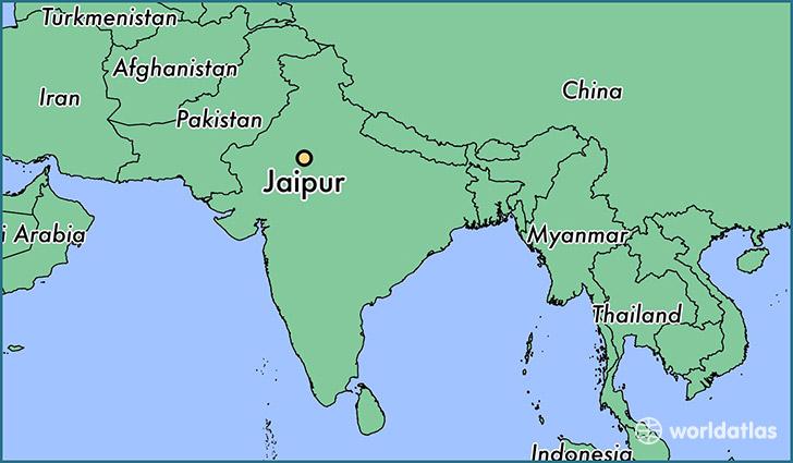 map showing the location of Jaipur