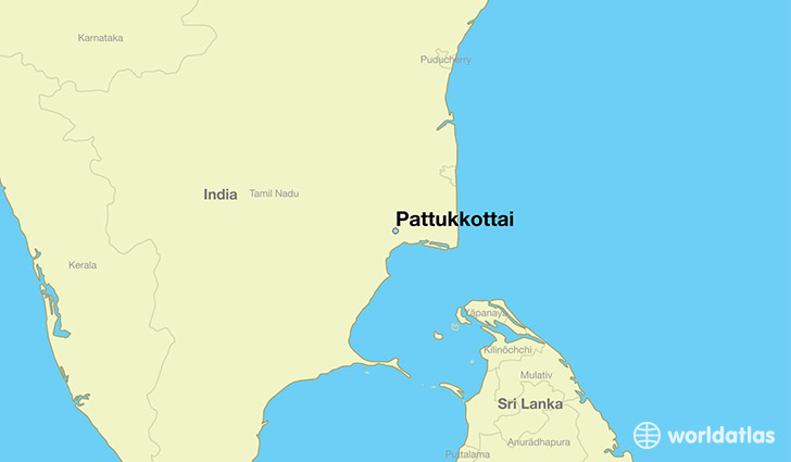 map showing the location of Pattukkottai