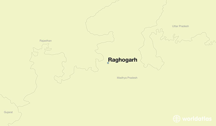 map showing the location of Raghogarh