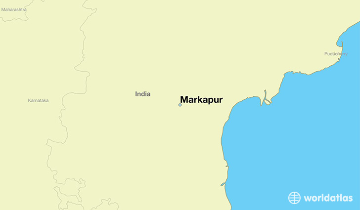 map showing the location of Markapur