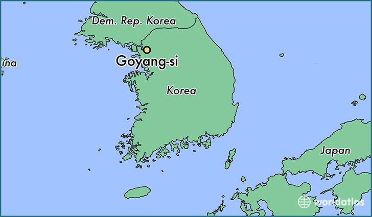 map showing the location of Goyang-si