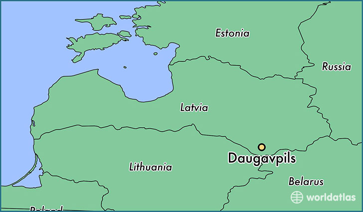 map showing the location of Daugavpils