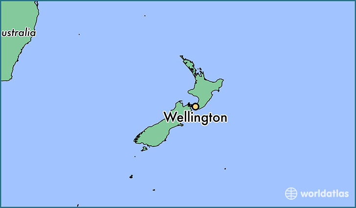New Zealand Map In World Map.Where Is Wellington New Zealand Wellington Wellington Map