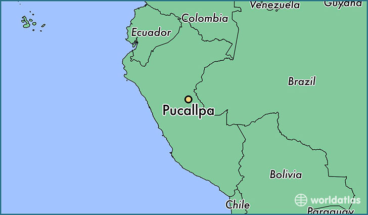 map showing the location of Pucallpa