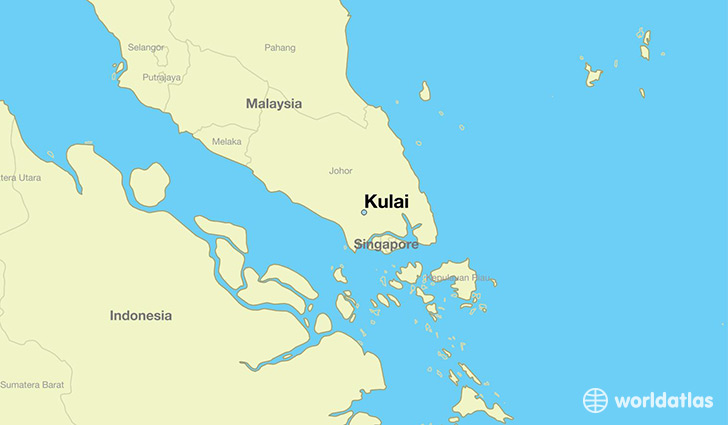 map showing the location of Kulai