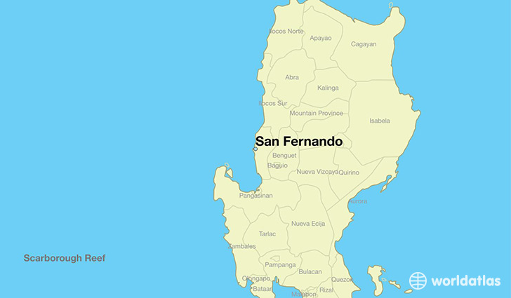 map showing the location of San Fernando