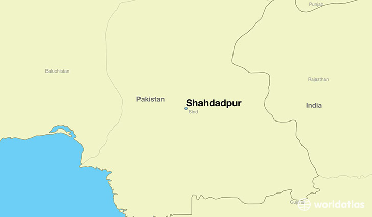 map showing the location of Shahdadpur