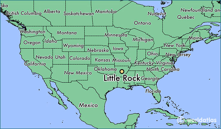 Little Rock Arkansas Us Map My Blog - Arkansas on a us map