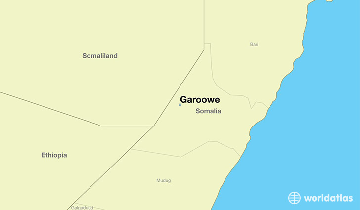 map showing the location of Garoowe