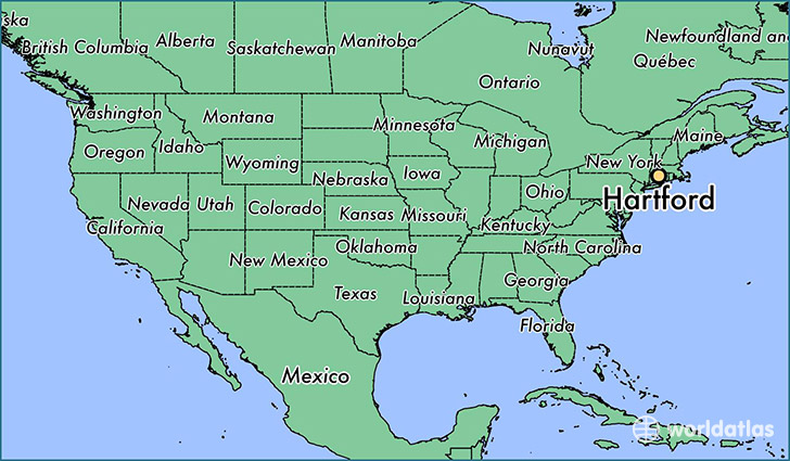 Where Is Hartford CT Where Is Hartford CT Located In The - Connecticut on a us map